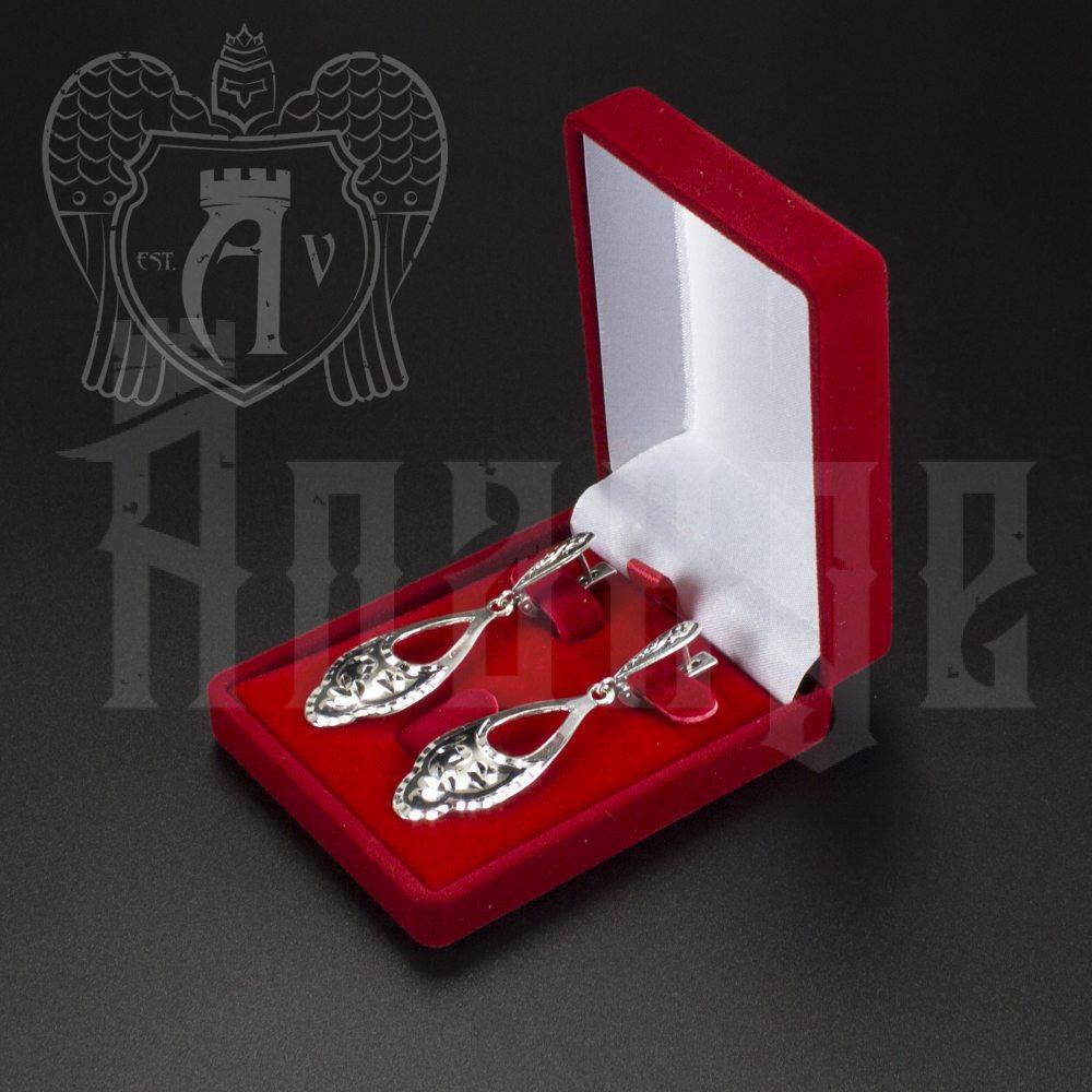 Серебряные серьги «Кубачинка» Апанде, 80010001