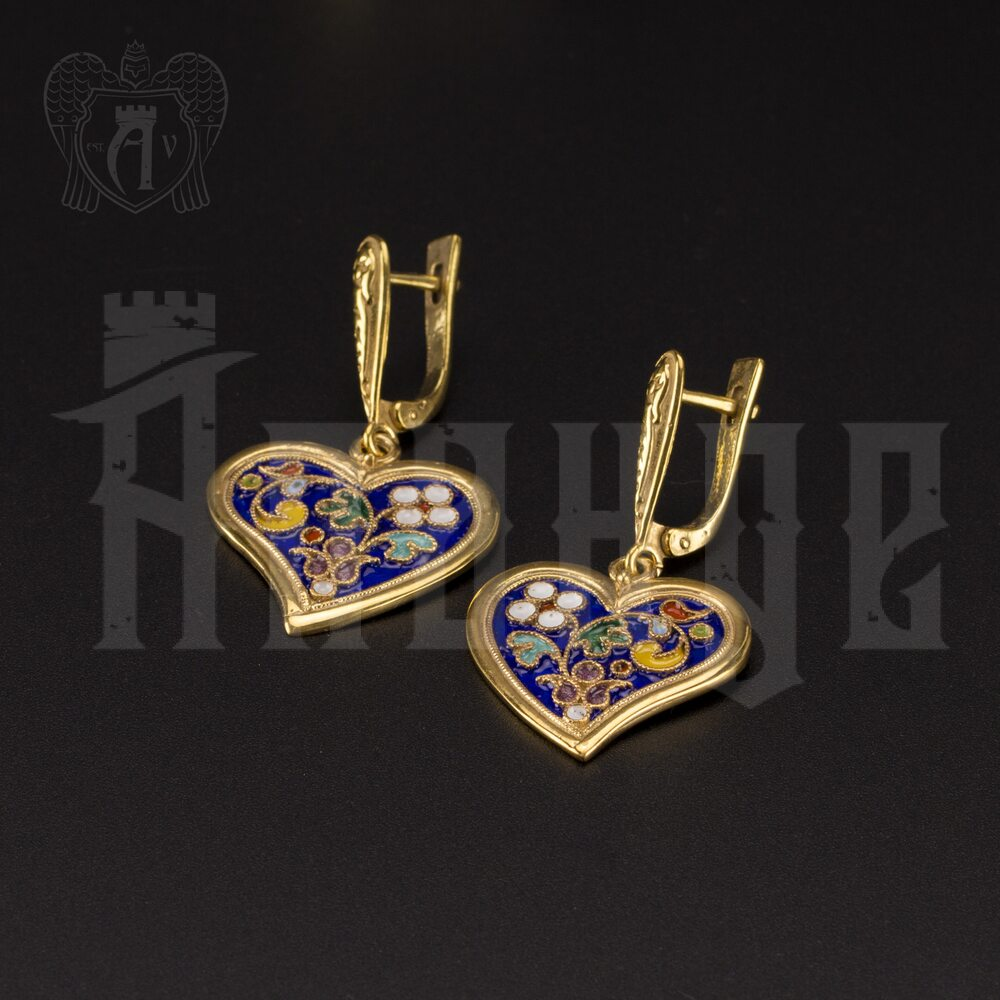 Серьги кубачинские «Сердечки» Апанде, 80010053